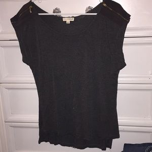 Zenana Outfitters Charcoal Blouse